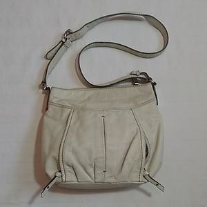 Tignanello Medium White Leather Shoulder Bag Purse